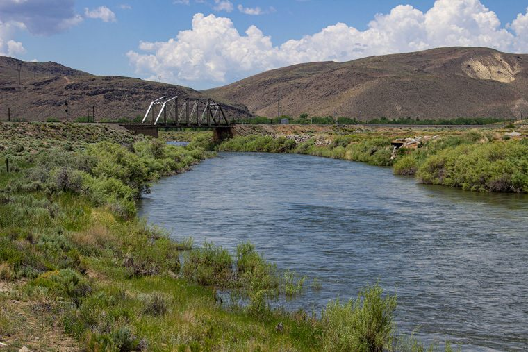 Railroad bridge on the Truckee River at McCarran Ranch Preserve