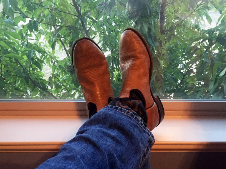 Michael Branch's boots