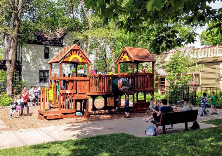 Milwaukee Avenue's play area