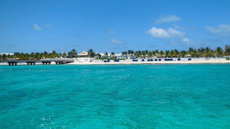 View of resort from ocean