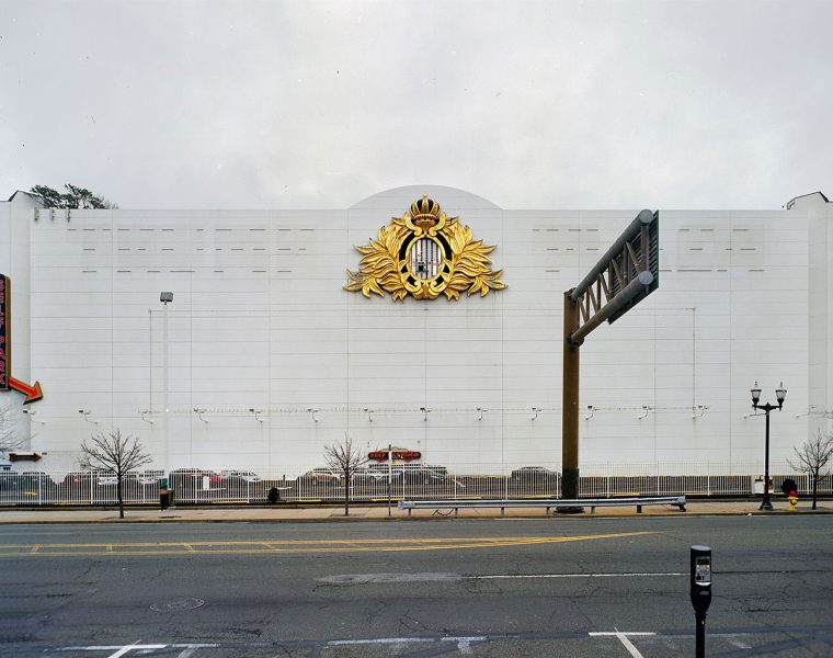 Blank wall at shuttered Trump Plaza in Atlantic City
