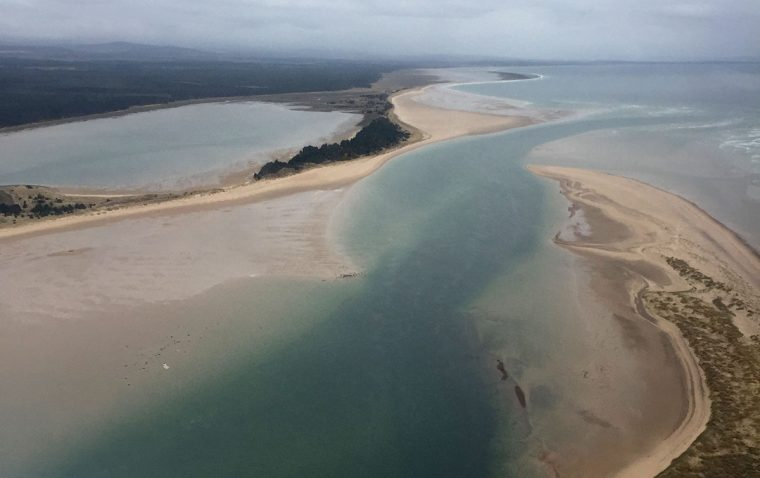 Aerial view of Culbin sands.