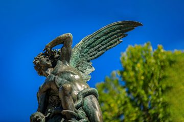 Fountain of the Fallen Angel in Retiro Park
